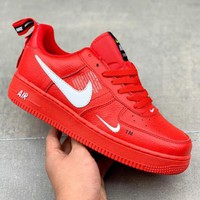NIKE AIR FORCE 1'07 LOW Deconstruction OW AF1 Casual Fashion Sneakers red