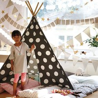 A Teepee to Call Your Own (Grey & White Dot)