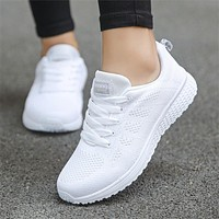 Women Casual Shoes Fashion Breathable Mesh Walking Vulcanized Shoes Woman White Sneakers Women Tenis Feminino Gym Shoes Sport|Women's Vulcanize Shoes