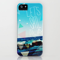 Let's Sail Away iPhone Case by Leah Flores | Society6