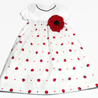 Baby Dress, Ladybugs, Baby Girl, Bodysuit Dress, Baby Girl Gift