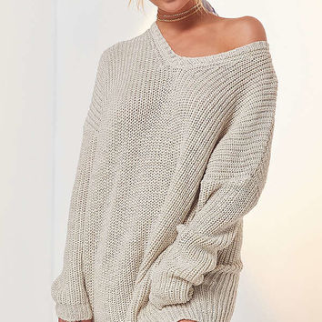 Ecote Olivia V-Neck Pullover Sweater | Urban Outfitters