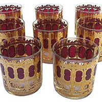 Culver Cocktail Glasses, S/8