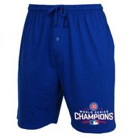 Men's Chicago Cubs Concepts Sport Royal 2016 World Series Champions Solid Knit Jam Shorts