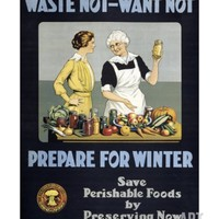 Waste Not - Want Not, Prepare for Winter Poster Giclee Print at Art.com
