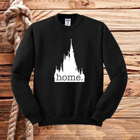 disney castle home logo sweater unisex adults