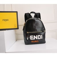 FENDI ZAINO LEATHER BACKPACK BAG