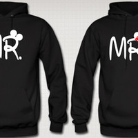 MRS. AND MR. LOVE COUPLE HOODIES