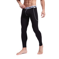 Men's Softed Long Johns Thermal Pants Bamboo Fibre Trousers Solid Color Underwear S M L