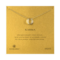 Triple Karma Ring Necklace, Mixed Metal   Dogeared