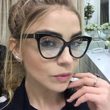Evelyn- Clear Cat Eye Glasses