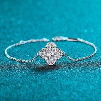 Clover Moisanite Diamond Bracelet
