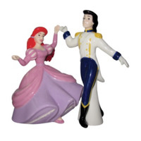 Disney The Little Mermaid Ariel And Eric Salt And Pepper Shakers