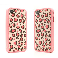 Nice Pink Leopard Print Hard Cover Case For Iphone 4/4s/5