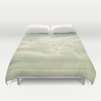 As the Clouds Gathered Duvet Cover by Cassia Beck