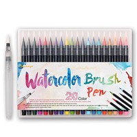 20 Color Premium Painting Soft Brush Pen Set Watercolor Copic Markers Pen Effect Best For Coloring Books Manga Comic Calligraphy