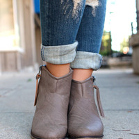 Cowgirl Chic Bootie - Taupe