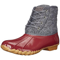 Western Chief Womens Quilted Four Eye Duck Quilted Wool Rain Boots