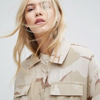 Weekday Camo Jacket at asos.com