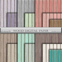 "Wood digital paper: ""Wood digital paper"" with rustic wood texture in teal, brown, grey,mint,coral,lilac,white,green digital wood background"