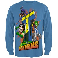 Teen Titans - Tower Boys Youth Long Sleeve T-Shirt