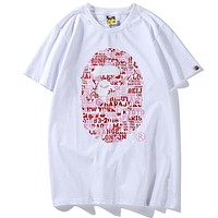 Bape Aape Popular Unisex City English Letter Print Short Sleeve T-Shirt Pullover Top Red I-CP-ZDL-YXC