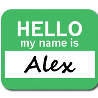 Alex Hello My Name Is Mouse Pad - No. 2