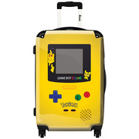 """iKase 'Game Boy Yellow Pokemon' 24-inch Fashion Hardside Spinner Suitcase   Overstock.com Shopping - The Best Deals on 24""""-25"""" Uprights"""