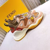 Fendi Women's Leather Fashion Low Top Sneakers Shoes
