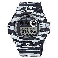 Casio Mens G-Shock - Black and White Tiger Camo - 200M - Magnetic Resistant