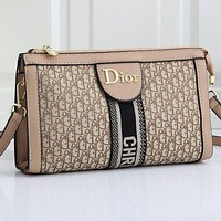 DIOR Women Leather Satchel Crossbody Handbag Bag Shoulder Bag