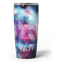 Vector Triangle Pink and Blue Galaxy - Skin Decal Vinyl Wrap Kit compatible with the Yeti Rambler Cooler Tumbler Cups