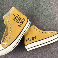 """""""Converse""""YEEZY Fashion Canvas Flats Sneakers Sport Shoes High tops G-AD-XZ"""