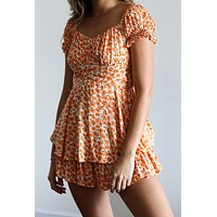 Endless Summer Orange Romper