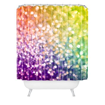 Lisa Argyropoulos Whirlwind Bokeh Shower Curtain