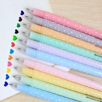 12 PCS - Cute & Lovely Shining Candy Color Ballpoint Pen Stationery