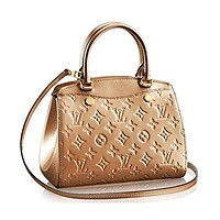 Authentic Louis Vuitton Monogram Vernis Leather Brea PM Handbag Article: M50809 Mordore Made in France
