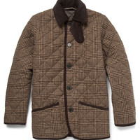 Mackintosh - Waverly Prince of Wales Check Quilted Wool Jacket | MR PORTER