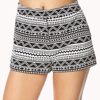 Geo Moment High-Waisted Shorts