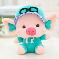 Hot! Lovely Cute Pig with Faddish Cap and 20CM  Length Stuffed & Plush Toy