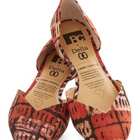 BC Footwear Dreaming of Destinations Flat in Rust