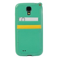 JAVOedge Back Cover with Card Slot and Wristlet for the Samsung Galaxy S4 (Mint)