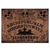 Day Of The Dead Ouija Glass Cutting Board 11x8