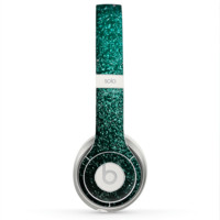The Grungy Teal Texture Skin for the Beats by Dre Solo 2 Headphones