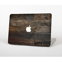 "The Dark Wooden Worn Planks Skin Set for the Apple MacBook Pro 15"" with Retina Display"