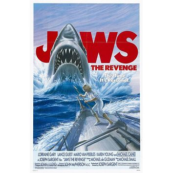 Jaws: The Revenge Poster//Jaws: The Revenge Movie Poster//Movie Poster//Poster Reprint