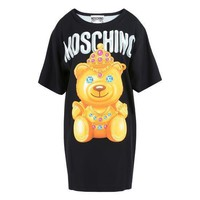 Hot Sale Moschino Diamond Bear Fashion Women T Shirt Loose Short Sleeves Dress