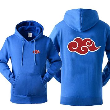 Japan Anime Naruto Akatsuki Red Cloud Print Hoody For Men 2017 Autumn Winter Sweatshirt Fashion Casual Tracksuits Hoodies Hot