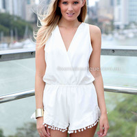 GLAM SEEKER PLAYSUIT , DRESSES, TOPS, BOTTOMS, JACKETS & JUMPERS, ACCESSORIES, 50% OFF SALE, PRE ORDER, NEW ARRIVALS, PLAYSUIT, COLOUR, GIFT VOUCHER,,White,SLEEVELESS Australia, Queensland, Brisbane