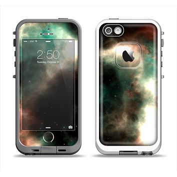 The Dark Green Glowing Universe Apple iPhone 5-5s LifeProof Fre Case Skin Set